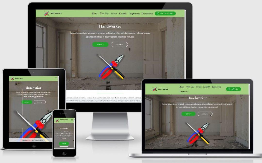 Handwerker Website – 9,99 € / Monat