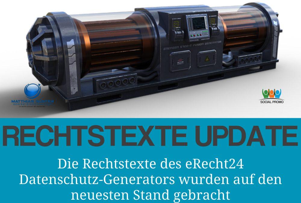 Update 1.8 des Datenschutz-Generators