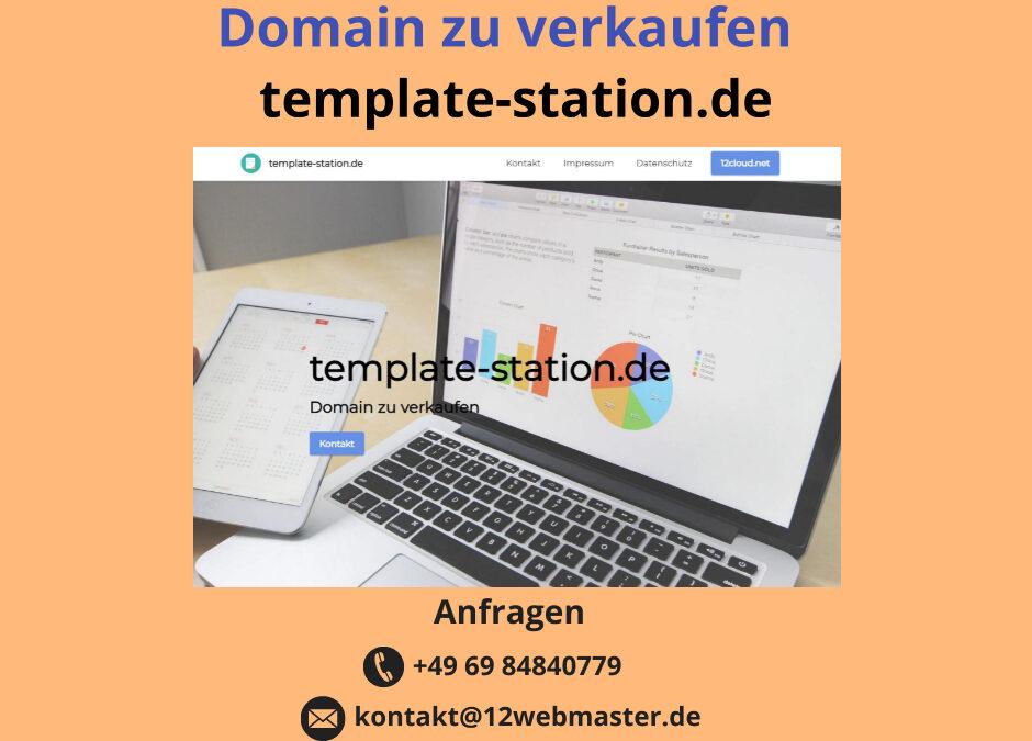 template-station.de Domain zu verkaufen