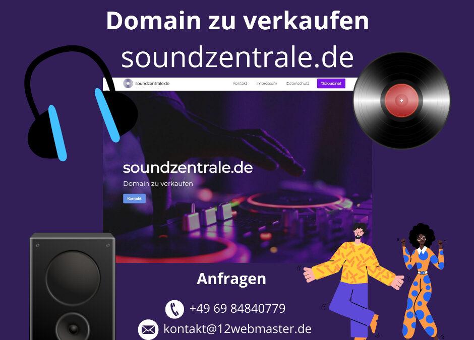 soundzentrale.de Domain zu verkaufen